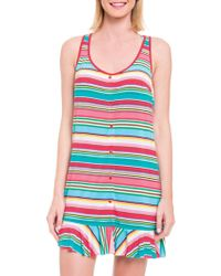 Blush By Profile - Candy Cane Tank Coverup - Lyst