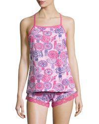Munki Munki - Coachella Umbrella Jersey Tank Top And Shorts - Lyst