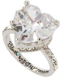 Betsey Johnson - Heart Stone Ring - Lyst