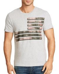 William Rast - Flag Mixed Camo Graphic Cotton Tee - Lyst