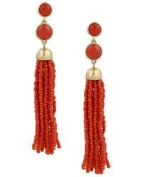 Lucky Brand - Trend Tassel Beaded Earrings - Lyst