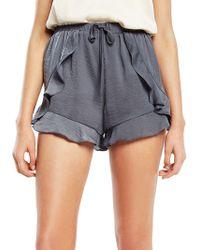 Bardot - Aurelia Ruffled Shorts - Lyst