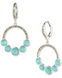 Judith Jack - Turquoise And Marcasite Sterling Silver Drop Earrings - Lyst