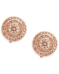 Lauren by Ralph Lauren - Round Stone-accented Clip-on Earrings - Lyst