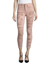 Lord & Taylor - Distressed Ankle Jeans - Lyst