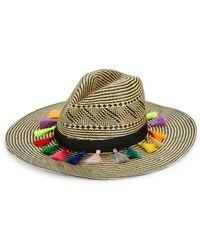 Dorfman Pacific - Contrast Tassel-accented Panama Hat - Lyst
