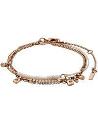 Pilgrim - Lianne Czech Crystal Layered Bracelet - Lyst