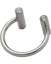 Pilgrim - Czech Crystal Studded Open Ring - Lyst