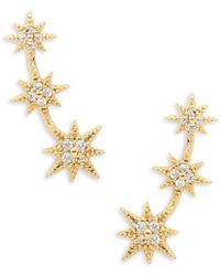 Tai - Stone-accented Star Climber Earrings - Lyst