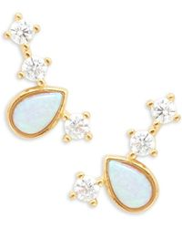 Tai - Stone Accented Stud Earrings - Lyst