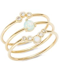 Tai - Opal And Stone-accented Stackable Ring Set - Lyst