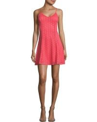Lord & Taylor - Lace A-line Dress - Lyst