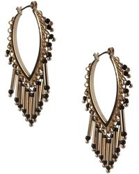 BCBGeneration - Fringe Florals Beaded Earrings - Lyst