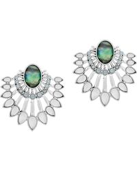 Lucky Brand - Ethereal Coasts Semi-precious And Surgical Steel Chandelier Earrings - Lyst