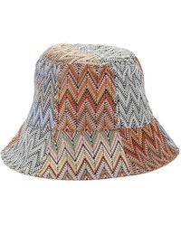 BCBGMAXAZRIA - Knitted Reversible Bucket Hat - Lyst