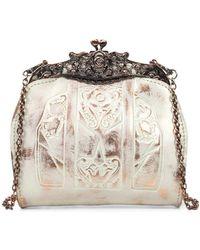 Patricia Nash - White Copper Overdye Carmonita Leather Frame Bag - Lyst