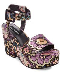 Lord & Taylor - Bazaar Brocade Wedge Sandals - Lyst