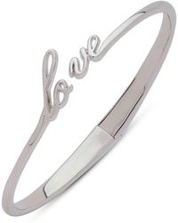 Judith Jack - Sterling Silver Love Hinged Bangle Bracelet - Lyst