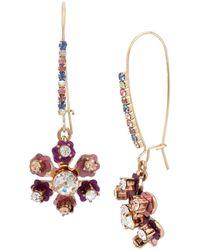 Betsey Johnson - Brooklyn Flower Earrings - Lyst
