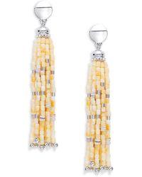 Lauren by Ralph Lauren - Beaded Tassel Drop Earrings - Lyst