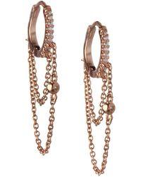 BCBGeneration - Cubic Zirconia Hinged Huggie Earrings - Lyst