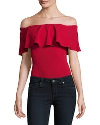 Lord & Taylor - Off-the-shoulder Bodysuit - Lyst