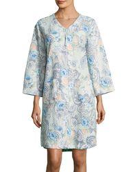 Miss Elaine - Printed Mumu Duster Robe - Lyst