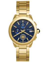 Tory Burch - Classic Collins Navy Dial Chronograph Bracelet Watch - Lyst