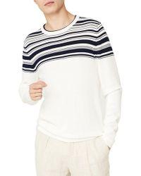 Mango - Stripe Long-sleeve Cotton Jumper - Lyst