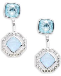 Judith Jack - Opal, Cubic Zirconia, Crystal, Marcasite And Sterling Silver Earrings - Lyst