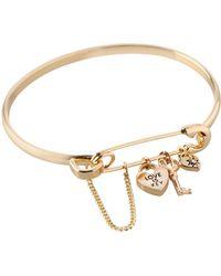 BCBGeneration - Love Is Key Charm Bangle Bracelet - Lyst