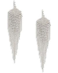 Lord & Taylor - Chained Tassel Drop Earrings - Lyst