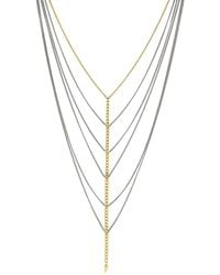 Jessica Simpson - Chain Chokers Horn Multi-strands Necklace - Lyst