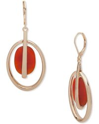 Anne Klein - Semi-precious Orbital Dangle & Drop Earrings - Lyst