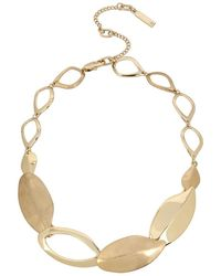 Kenneth Cole - Leaf Collar Necklace - Lyst