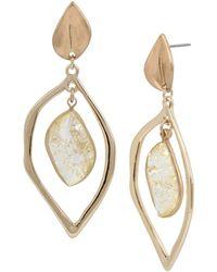 Kenneth Cole - Double Drop Earrings - Lyst