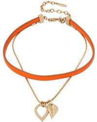 Kenneth Cole - Textured Metals Leaf-like Pendant & Choker Necklace - Lyst