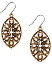 Lucky Brand - Heritage Holiday Openwork Drop Earrings - Lyst