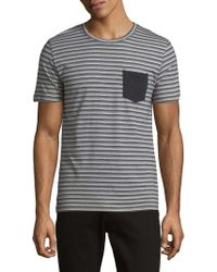 SELECTED - Striped Short-sleeve Tee - Lyst
