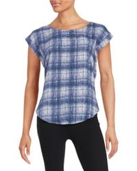 William Rast   Mesh-accented Knit Top   Lyst