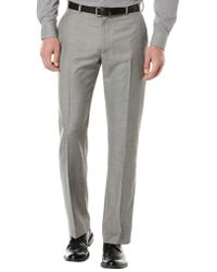 Perry Ellis - Big And Tall Textured Flat Front Suit Trousers - Lyst