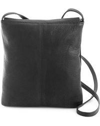 Royce - New York Flapover Leather Crossbody Bag - Lyst