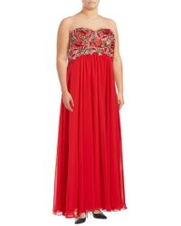 Decode 1.8 - Embroidered Floral Gown - Lyst