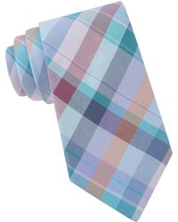 Ted Baker - Plaid Cotton And Silk Tie - Lyst