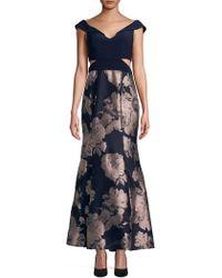 Xscape - Petite Floral Off-the-shoulder Midi Dress - Lyst