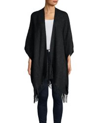 Echo - Open Front Poncho - Lyst