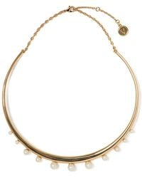 Vince Camuto - Goldtone And Faux Pearl Collar Necklace - Lyst