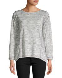 Jones New York - Long-sleeve Panelled Shirt - Lyst