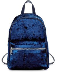 Lord & Taylor - Crushed Velvet Backpack - Lyst