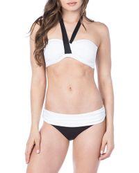Lauren by Ralph Lauren - Tie Back Bandeau Bikini Top - Lyst